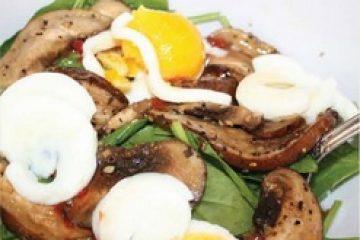 Богатый грибной салат с низким содержанием калорий
