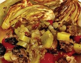 רז קל בשר רזה עם שומר בתנור