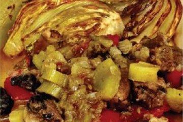 בשר רזה עם שומר בתנור